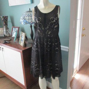 Free People NWT Black Lace Dress size 10